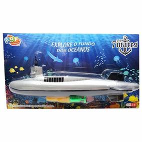 Barco Submarino A Pilha Flutua Dentro D Àgua Brinquedo