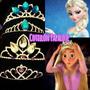 Corona Rapunzel Tiara Elsa Frozen Princesas Metal Strass