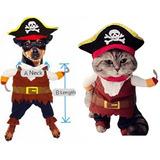 Disfraz Para Mascotas De Pirata Para Perro Y Gato Halloween