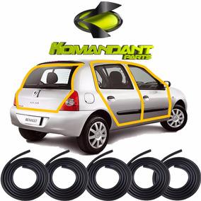 Kit Borrachas Vedação Das 4 Portas E Mala Clio Hatch E Sedan