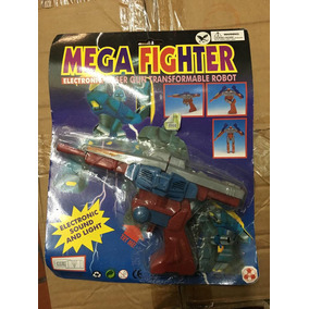 Pistola Plastica Vintage Mega Fighter Transformable