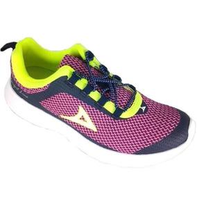 Tenis Running Para Mujer Pirma 267 Textil Fiusha 2 Al 6