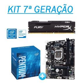 Kit 7ª Geração Ga-h110m-h+ Pentium G4560 + 8gb Ddr4- Testado