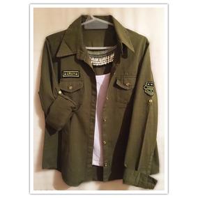 Camisa Estilo Militar Army