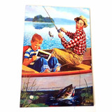 Placa Decorativa Classic Fishing N18 - 20 X 30 Cm
