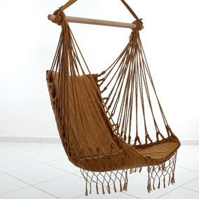 Kit Com 2 Redes Dormir Cadeira Teto De Sentar Luxo Descanso