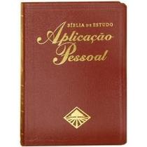Bíblia De Estudo Aplicação Pessoal Grande Vinho Luxo