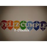 Cartel Guirnalda Feliz Cumple Cumpleaños Fiestas Goma Eva