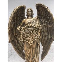 Arcangel Metatron Armonizados Y Preparados 28 Cm Tpo Bronce