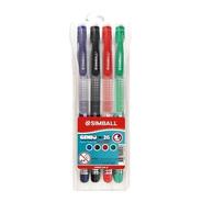 Boligrafo Simball Genio 2g Borrable Kit X 4 Azul Rojo Verde