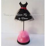 5 Enfeites Em Eva Centro De Mesa Paris Debutante Pink Preto