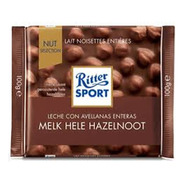 Tableta Chocolate Ritter Leche Con Avellanas X 100g