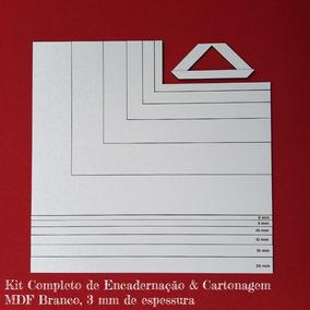 Kit Completo Cartonagem & Encadernação Mdf Branco