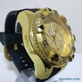 a2f0cd98e5 Relogio Masculino Dourado Borracha Pesado Caixa - Relógios De Pulso ...
