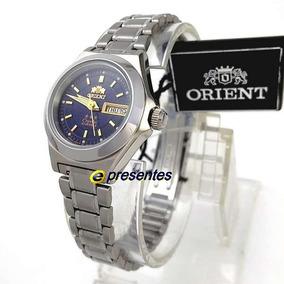 5f59a5b2b35 Relógio Feminino Orient Automático Inox Azul Marinho 25mm