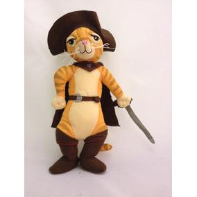 Exclusivo! Boneco Gato De Botas 35cm Filme Shrek Macio