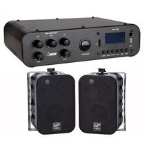 Som Ambiente Caixa Acústica 65watts + Receiver Usb 100 W