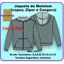 Molde Jaqueta Infantil Capuz, Zip E Canguru 031