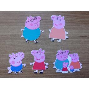 Kit 40 Apliques Recortes Festa Peppa Pig 3,5 Cm