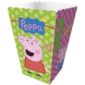 Mini Caixa P/ Pipoca - Peppa Pig - 12 Unid. - Decoração