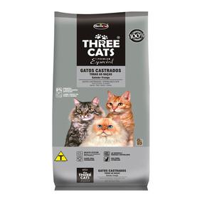 Ração Threecats Para Gatos Castrados Especial Sabor Salmã