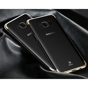 Capa Clear Cover Para Galaxy S8 Acrilico Azul/preta/dourada