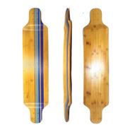 Shape Longboard Bambú E Maple Hudora 41  Com Lixa