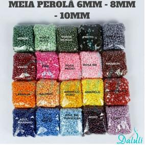 Meia Perola 8mm Abs Pacote - 500g - 3.500 Peças Rosa Bebê