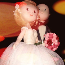 Pareja Novios-adorno Torta - Porcelana Fría- Boda Casamiento