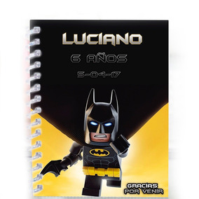 Libretas De Batman Lego Para Recuerdo De Fiesta Infantil
