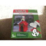 Inflable De Navidad Peanuts Snoopy Con Luces 123 Cms *sk