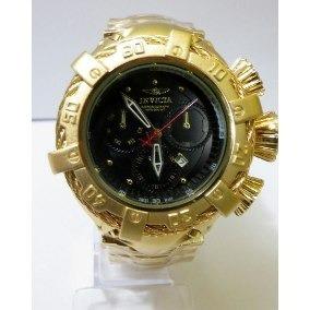 1c60683a98f Relogio Invicta Bolt Zeus Dourado fundo Transparente Amarelo Pulso ...