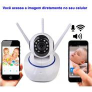 Baba Eletrônica Câmera Ip Wifi Sd Visão Noturna 3 Antenas