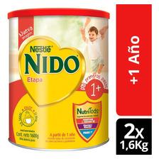 Leche En Polvo Nido® 1+ Protectus Avanzado Tarro 1600g X2