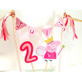 Set Adorno Topper Para Torta Cumple Chanchita Peppa!