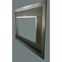 Espejo Dorado Decorativo En Corte Laser 145 X 104