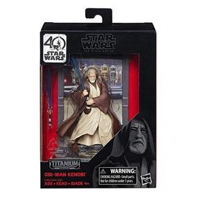 Star Wars Titanium Series Obi Wan Kenobi Figuras 3.75 Pulgad