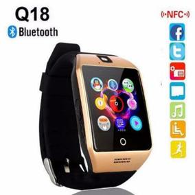 Smart Watch Q18 Con Facebook Whatsapp Twitter Dorado