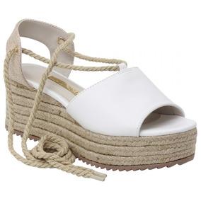 4d44a21dde Sandalias Femininas Anabela Via Marte - Sapatos Branco no Mercado ...