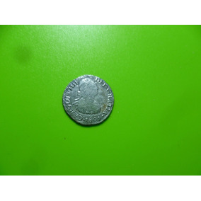 Antigua Moneda De 1/2 Real Carlos I I I I . 1801 Mo. Plata.