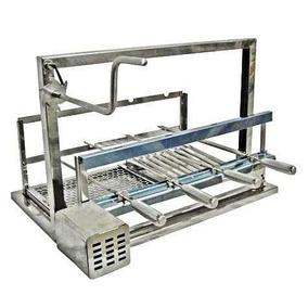 Grill Giratório Elevação Elétrico Inox 4 Espetos Artmill