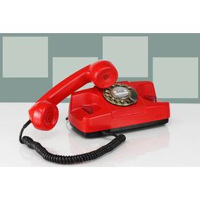 Telefone Antigo Tijolo 3 Cores Funcionando Decoração