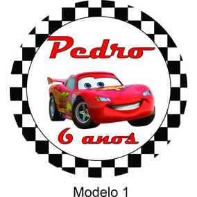 100 Tags Adesivo - Tema Carros Disney