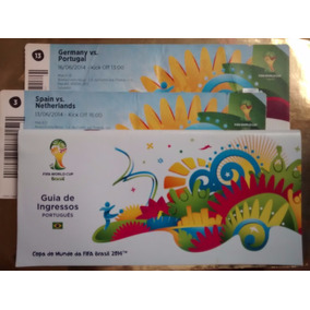 02 Ingressos +guia Copa 2014 Germany Portugal Spain Souvenir