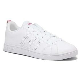 tenis adidas blancos con rosa