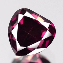 Diamante Color Rosa Purpura .32 Cts Natural. Corte Corazon