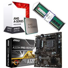 Combo Actualizacion Amd A10 9700 Am4 + Msi A320 + 4gb Ddr4