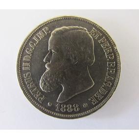 Moeda Antiga 1000 Réis 1888 Prata Petrus I I Mbc Numismática