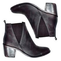 Botas Botitas Zapatos Cuero Mujer Elegantes Diseño Original
