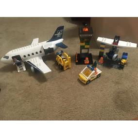 2 Sets De Lego Duplo Aeroporto + Helicoptero Vintage Lindo